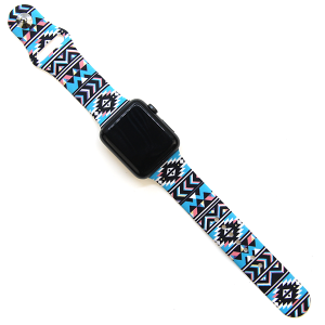 Watch Band 006a 08 38mm 40mm geometric blue