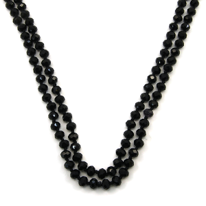 Necklace 1043b 46 Encour 30 60 inch bead necklace black 34