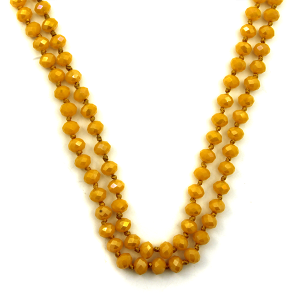 Necklace 1886a 46 Encour 30 60 inch bead necklace mustard 403