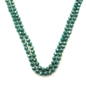 Necklace 1038a 46 Encour 30 60 inch bead necklace turquoise 430