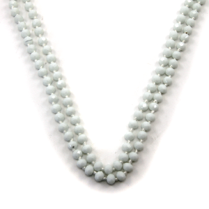 Necklace 1044a 46 Encour 30 60 inch bead necklace white 48