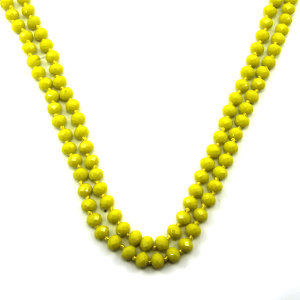 Necklace 939b 46 Encour 30 60 inch bead necklace yellow 65
