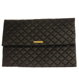 Quilted Nylon Evening Bag - black