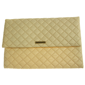 Quilted Nylon Evening Bag - ivory