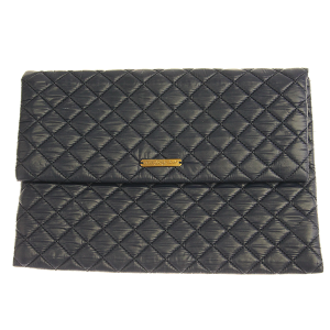 Quilted Nylon Evening Bag - navy