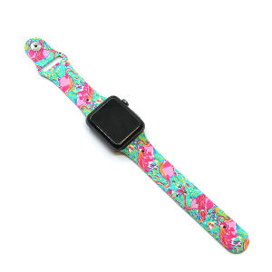 Watch Band 136 08 Rubber Silicone Watch Band flamingo