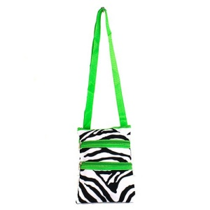 T10 2007 messenger bag zebra green