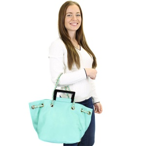 th 53145 fashion handbag green