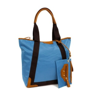 th 59333 nylon tote blue