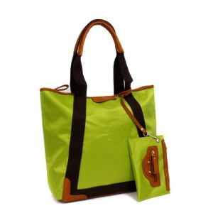 th 59333 nylon tote green
