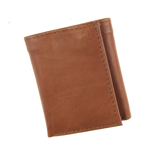 Simple Trifold Wallet Leather a44 Brown