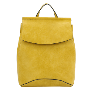 Handbag Republic UN-0069 fashion backpack mustard yellow