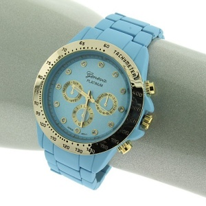 watch 009j 08 round face blue gold 9314