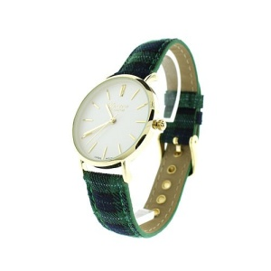 watch 041i 08 9970 plaid green gold