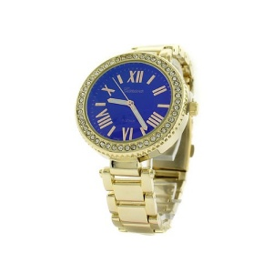 watch 065p 08 4895 round face crystal roman blue gold