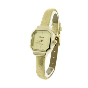 watch 091b 08 thin square texture gold