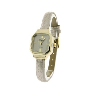 watch 113e 08 thin square texture silver gold
