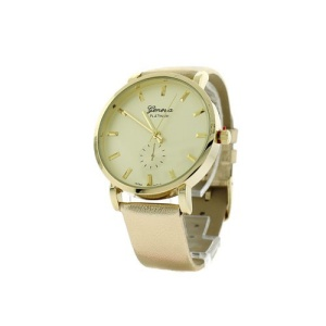 watch 115i 08 9865 round face leather gold