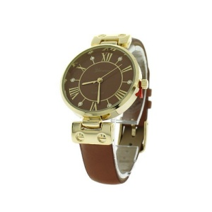 watch 122j 08 9881 round face leather brown