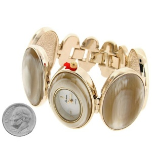 watch 143g 08 6476 oval gold beige