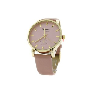 watch 144i 08 9865 round face leather pink