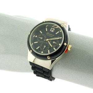 watch 150j 08 2278 round rubber black gold