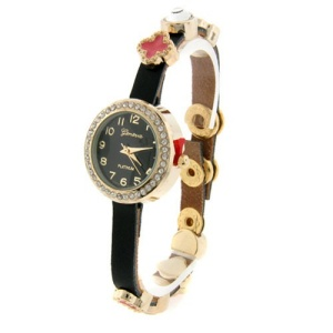 watch 155g 08 9648 charm watch gold pink black
