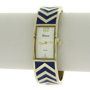 watch 156f 08 bangle chevron blue gold