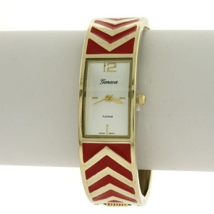 watch 159c 08 bangle chevron red gold