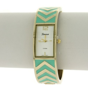 watch 173b 08 bangle chevron turquoise gold