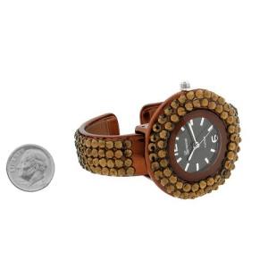 watch 260i 08 cuff round bronze brown