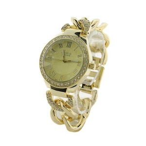 watch 294f 47 4799 round crystal chain link gold