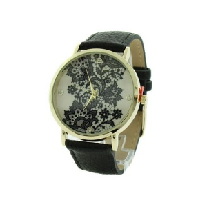 watch 296f 08 4872 round floral crystal black gold