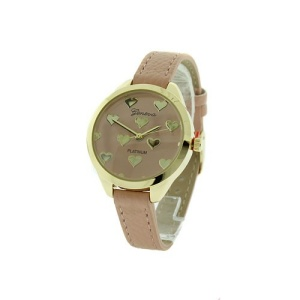 watch 299a 08 9596 round heart thin band pink gold