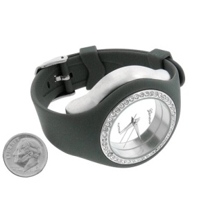 watch 309 08 lg rubber round gray