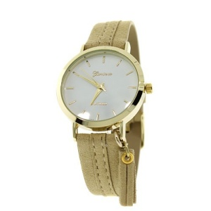 watch 390a 08 suede tassel beige gold