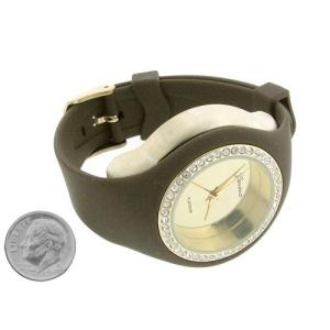 watch 310 08 lg rubber round gold brown