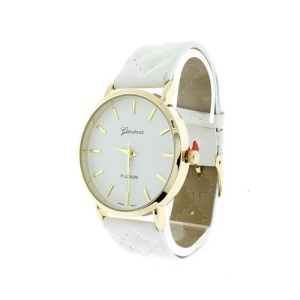 watch 318e 08 9875 leather like diamond band white gold