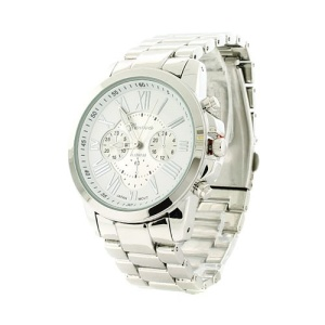 watch 332e 08 9461 round metal link silver
