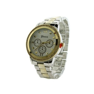watch 364a 08 4809 round crystal hinge silver gold