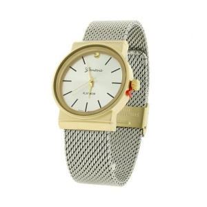 watch 401a 08 9378 round steel mesh silver gold