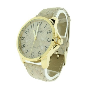 watch 403b marble print round gold multi