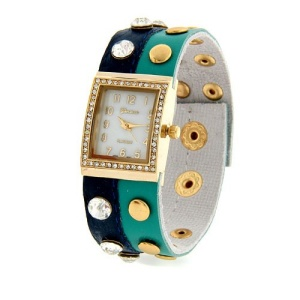 watch 434b 08 wrap around gold teal blue