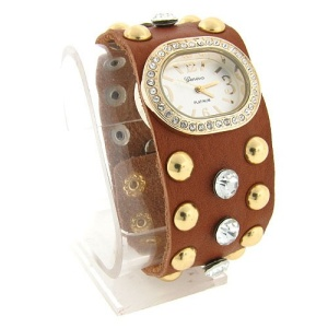 watch 451 08 oval band gold brown