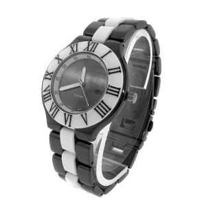 watch 466a 08 link round gunmetal white