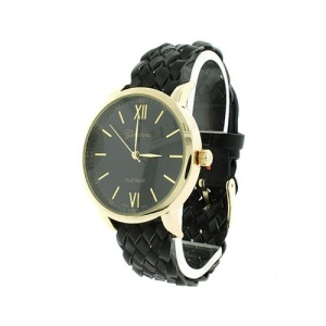 watch 468b 08 9831 braided band black gold