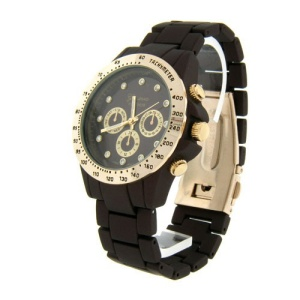 watch 470a 08 link round crystal brown gold