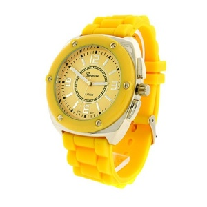 watch 471b 08 rubber band gold yellow