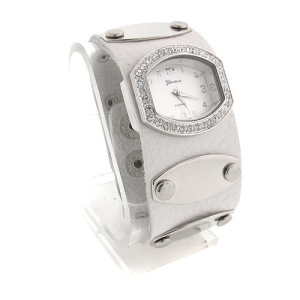 watch 497 08 wrist band silver white