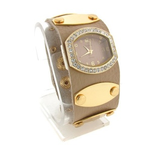 watch 499 08 wrist band gold beige